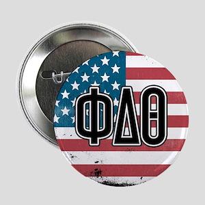 """Phi Delta Theta Flag 2.25"""" Button"""
