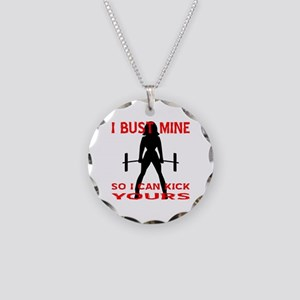 Bust Mine To Kick Yours Necklace Circle Charm