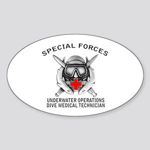 Diving Medical Technician w/ Sticker (Oval)