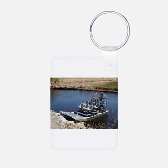 Florida swamp airboat 2 Keychains