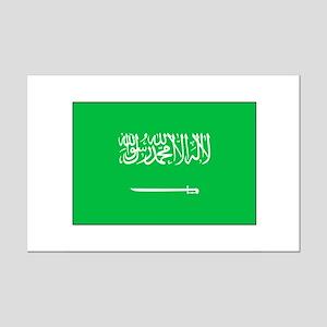 Saudi Arabian Flag Mini Poster Print