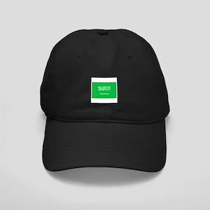 Saudi Arabian Flag Black Cap