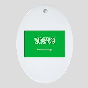 Saudi Arabian Flag Oval Ornament