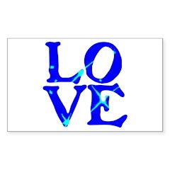 LOVE SPARKLE BLUE Sticker (Rectangle 10 pk)