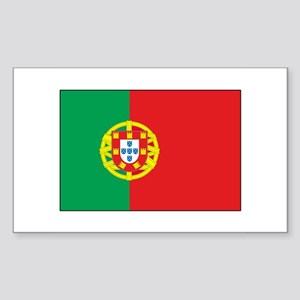 The Flag of Portugal Rectangle Sticker