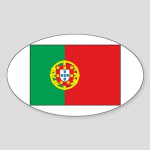 The Flag of Portugal Oval Sticker
