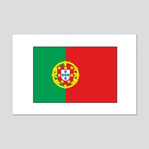 The Flag of Portugal Mini Poster Print