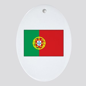 The Flag of Portugal Oval Ornament