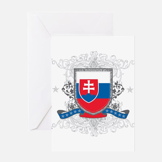 Slovakia Shield Greeting Card