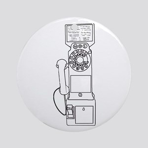 Vintage Pay Phone Ornament (Round)