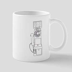 Vintage Pay Phone Mug