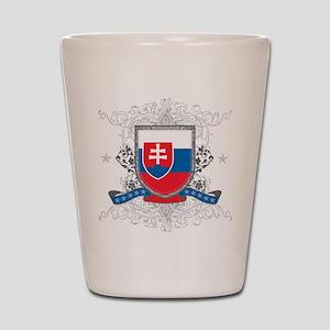 Slovakia Shield Shot Glass