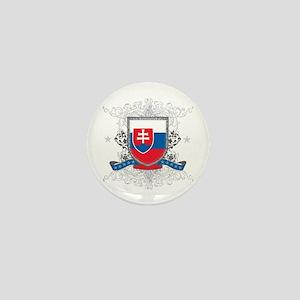 Slovakia Shield Mini Button