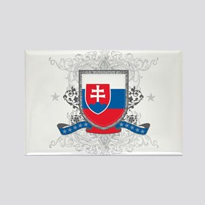 Slovakia Shield Rectangle Magnet