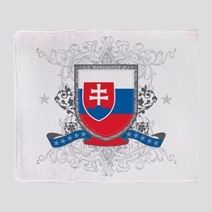 Slovakia Shield Throw Blanket
