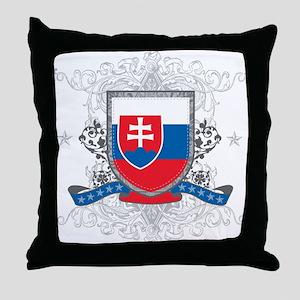 Slovakia Shield Throw Pillow