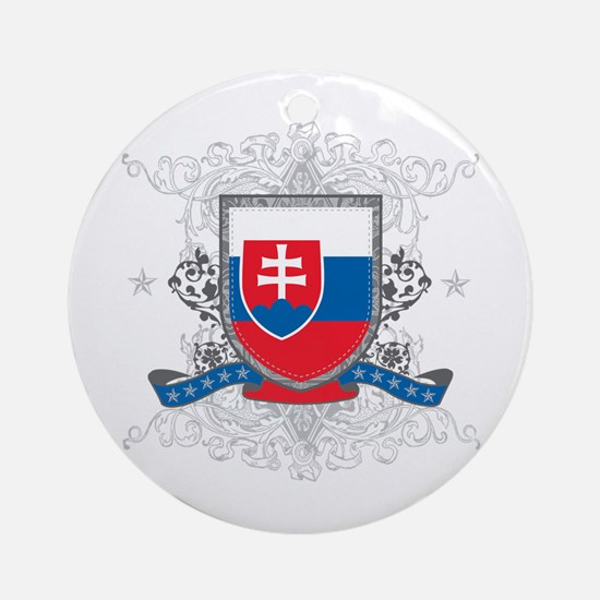 Slovakia Shield Ornament (Round)