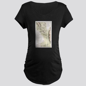 Vintage Map of Sparta Greece (17 Maternity T-Shirt