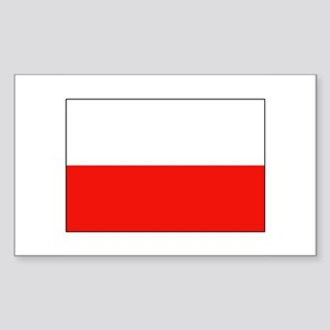 Three Cheers for Poland Rectangle Sticker
