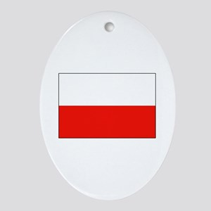 Three Cheers for Poland Oval Ornament