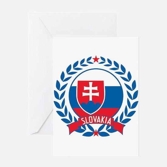Slovakia Wreath Greeting Card