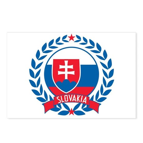 Slovakia Wreath Postcards (Package of 8)
