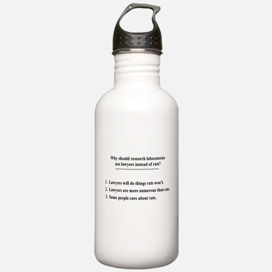lawyers and lab rats Water Bottle