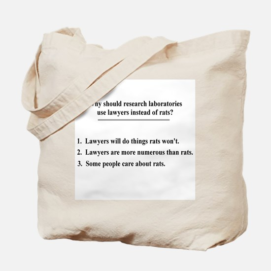 lawyers and lab rats Tote Bag