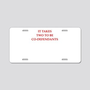 conspiracy Aluminum License Plate
