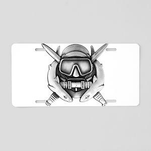 Combat Diver Aluminum License Plate