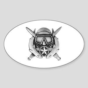Dive Supe Sticker (Oval)
