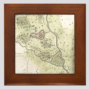 Vintage Map of Sparta Greece (1783) Framed Tile