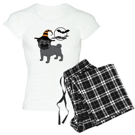 Bewitched Black Pug Women's Light Pajamas
