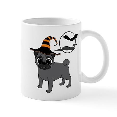 Bewitched Black Pug Mug