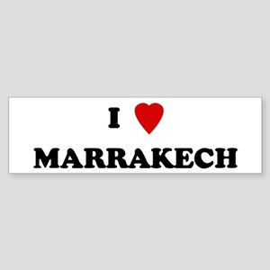I Love Marrakech Bumper Sticker