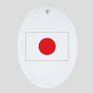 Rising Sun Flag of Japan Oval Ornament