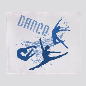 Dance (blue) Throw Blanket
