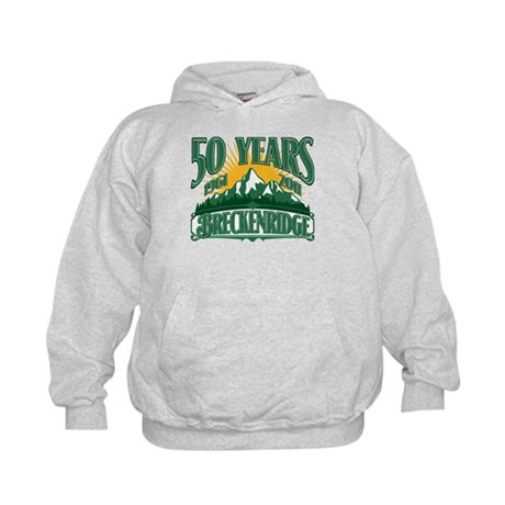 Breckenridge Green Mountain 50th Kids Hoodie