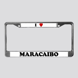 I Love Maracaibo License Plate Frame