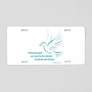 Gandi Peace Aluminum License Plate