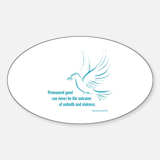 Gandi Peace Sticker (Oval)