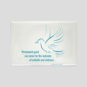 Gandi Peace Rectangle Magnet