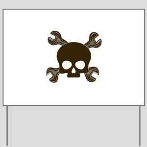 Skull & Cross-Wrenches Yard Sign