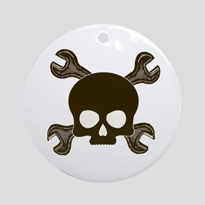 Skull & Cross-Wrenches Ornament (Round)