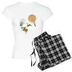 Moon, japanese pampas grass Women's Light Pajamas