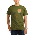 Moon, japanese pampas Organic Men's T-Shirt (dark)