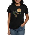 Moon, japanese pampas grass a Women's Dark T-Shirt