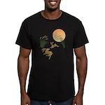 Moon, japanese pampas Men's Fitted T-Shirt (dark)
