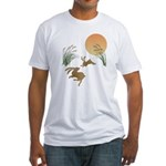 Moon, japanese pampas grass and rab Fitted T-Shirt