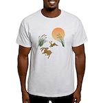 Moon, japanese pampas grass and rabb Light T-Shirt